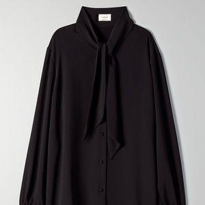 Aritzia Wilfred silk Maui blouse